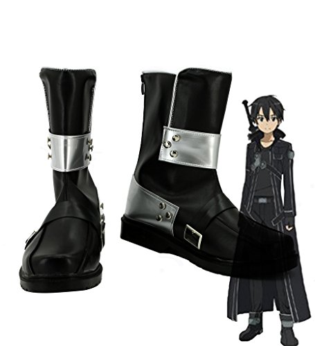 Sword Art Online Kazuto Kirigaya Cosplay Costume (Sword Art Online SAO Kirigaya Kazuto Kirito Cosplay Shoes Boots Custom Made)