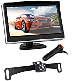 Backup Camera and 5″ Monitor System for Car/RV/Pickup/Truck Single Power System Reverse/Continuous Use Rear/Side/Front View ON/Off Guide Lines IP68 Waterproof Night Vision Review