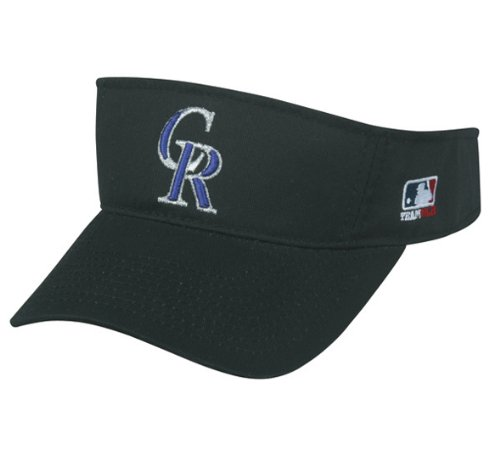 MLB ADULT Colorado ROCKIES Home BLACK VISOR Adjustable Velcr