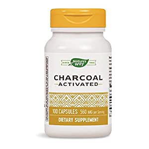 Nature's Way Activated Charcoal Supplement, Gluten-Free, 100 Capsules (Packaging May Vary)