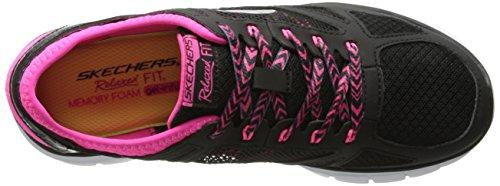 Noir Skechers Bkhp Flex femme Forward nbsp;Royal Noir Skech Sneakers basses qAHqZ0nr