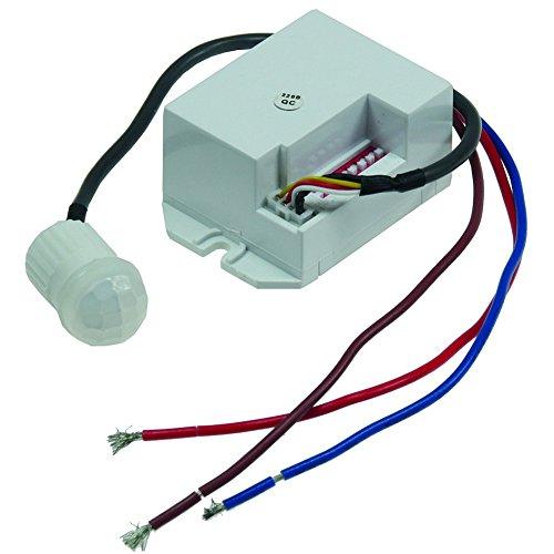 Mini Einbau-Bewegungsmelder CT-PIR 15' 230V, 800W, 15mm, LED geeignet, weiß Chilitec