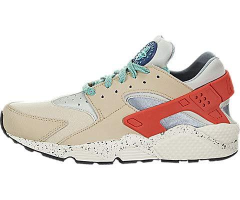 Nike Men's Air Huarache Run PRM Desert Ore/Indigo Force/Hyper Jade 704830-204 (Size: 11)