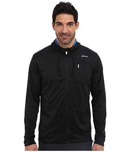 ASICS Men's Exertion Jacket(tm), Jet Black/Electric, LG