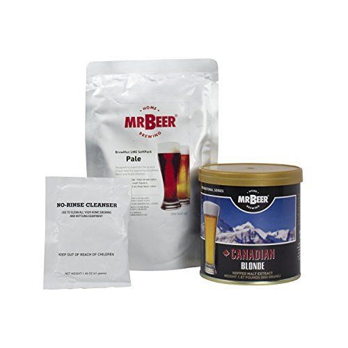 Mr. Beer Canadian Blonde Deluxe Home Brewing Beer Refill Kit - Refill Pale Ale