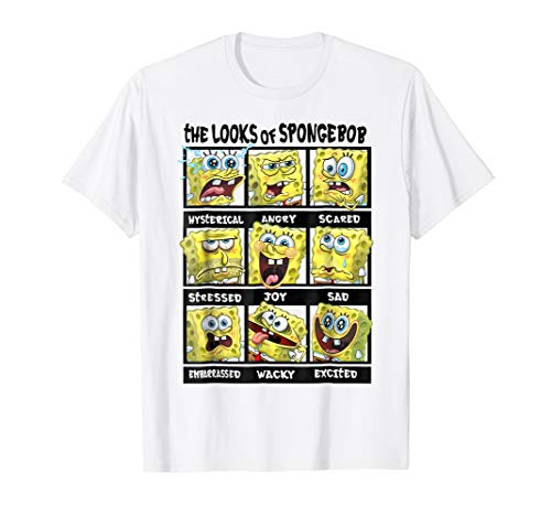 Spongebob SquarePants Multiple Looks & Emotions T-Shirt]()