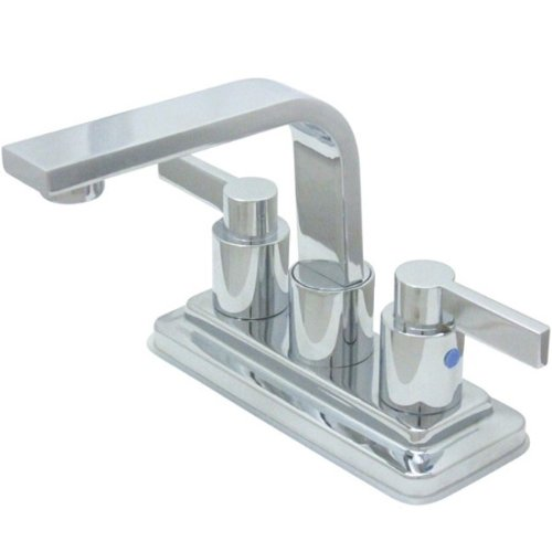 - Kingston Brass KB8461NDL Nuvofusion Euro High Rise Spout Lavatory Faucet with Brass Pop-Up, Polished Chrome