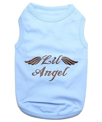 Parisian Pet Lil Angel Dog T-Shirt, Large, bluee