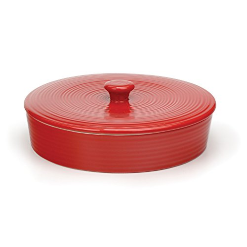 RSVP Stoneware Tortilla Warmer, Red, 10-inch
