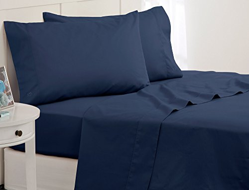Southern Tide Skipjack Tonal Embroidered Twill Sheet Set, Full, Nautical Blue