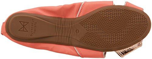 Butterfly Twists Damen Sophia Geschlossene Ballerinas Orange (Coral)