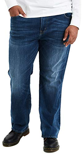 American Eagle Men's Flex Original Bootcut Jean, Medium Indigo (30x30)
