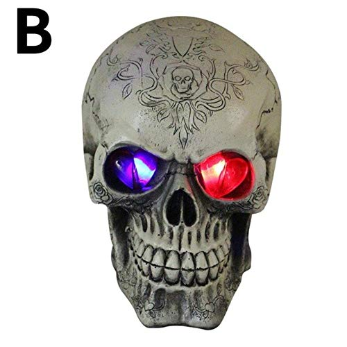 Hakazhi Inc Party DIY Decorations - 1 Piece Horror Bar Decor Skull Ghosts Eye Glow Terrible Skull Ghosts Halloween Party Decorations Haunted House Props (B)]()