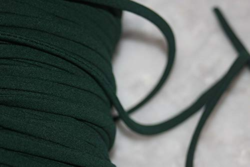 (Decorative notions and Trims - 5 Yards Forest Hunter Green Spaghetti String Tubular Tube Cord 1/4 lace up tee - Embellish Garments, Pillows and Home)
