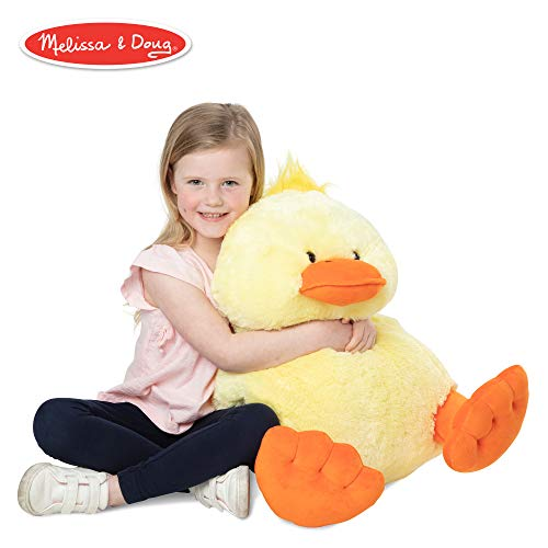 (Melissa & Doug Jumbo Yellow Ducky Stuffed Animal (20