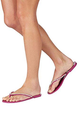 next de Corte Mujer strass playa goma Regular Sandalias Rosa vZAvHqanr