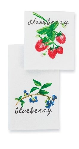 Mud Pie Strawberry and Blueberry Flour Sack Towel Set (Mud Pie Strawberry compare prices)