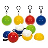 Toweter Set of 5 Pieces Disposable Emergency Raincoats Portable Hook Poncho Ball