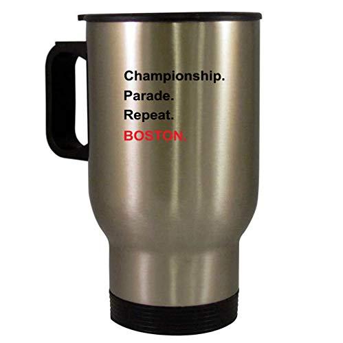 Championship Boston 14 oz SILVER Stainless Steel Travel Mug
