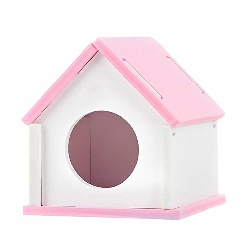 - OMEM Hamster House Small Animal Hideout, Pet Mini Hut,Hamster Cabin, Hamster Cages, Portable Hamster Room, Pet Wooden Toys, Pet Hamster Toys
