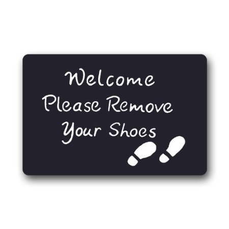 (New Doormat Please Remove Your Shoes Indoor/Outdoor/Front Door Mat (L23.6