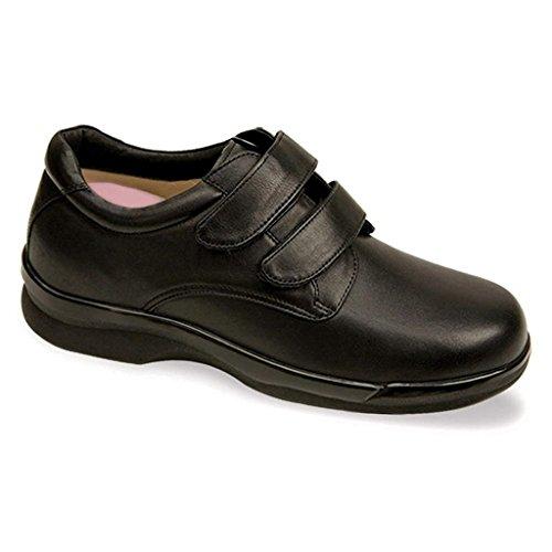 Apex Men's Ambulator Conform Double Strap,Black Smooth Leather,US 8.5 (Ambulator Conform Shoe)