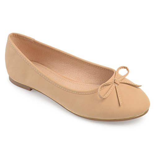 Journee Collection Womens Wide Width Bow Ballet Flats Nude