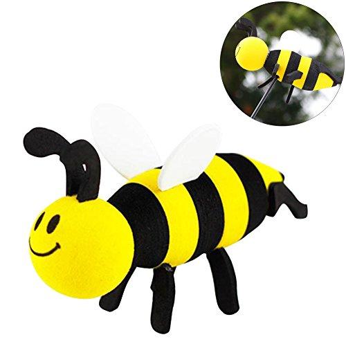 Lzttyee Cute Yellow Bee Car Antenna Topper Universal Automobile Antenna Foam Ball - Antenna Topper Alien