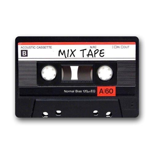 Decorative Mixtape Cassette Funny Retro Vintage Doormats Welcome Mats /Outdoor/Front Door/Bathroom Mats Rugs for Home/Office/Bedroom Neoprene Rubber Non Slip Backing Machine Washable(18 x30 inch)