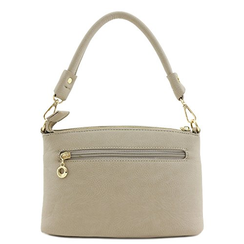 Bag Versatile Dove Zip Crossbody Pocket Double 8Iwzq44