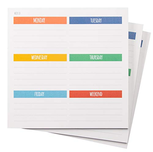 3-Pack Weekly Paper Planner to Do List Memo Mousepad
