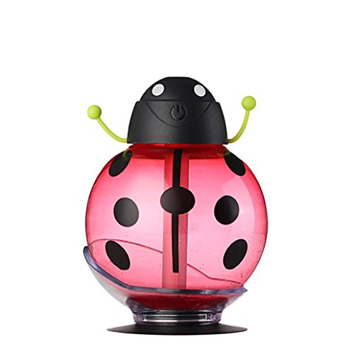 260ml Ultrasonic Humidifier,Elevin(TM)2016 Beatles Design Aroma LED Humidifier Air Diffuser Purifier Atomize for Car Office Home Bedroom Living Room (Red)