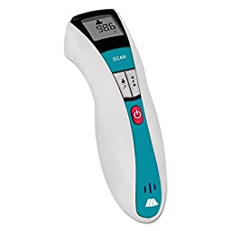 -- RediScan Infrared Thermometer w/Digital Readout, White/Blue, 50F–122F