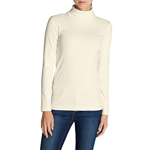 Lookout 2x2 Rib Long-Sleeve Turtleneck, Ivory XS (Rib Turtleneck)