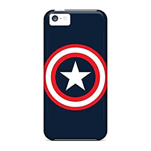 Waterdrop Snap-on Capitain America Logo Case For Iphone 5c