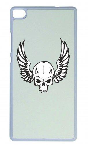 """Smartphone Case Apple IPhone 6/ 6S """"Totenschädel mit Flügeln an Seite Skelett Rocker Motorradclub Gothic Biker Skull Emo Old School"""" Spass- Kult- Motiv Geschenkidee Ostern Weihnachten"""