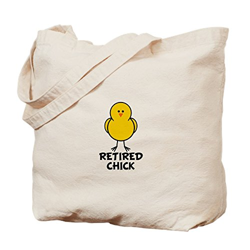 CafePress - Retired Chick - Natural Canvas Tote Bag, Cloth Shopping Bag