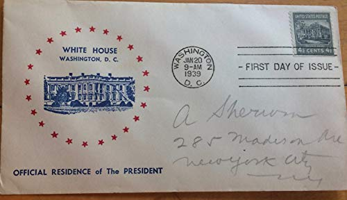 White House First Day of Issue envelope 1939, mint condition ()