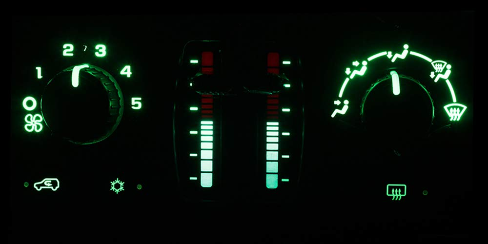 HERCOO Green LED Lights Bulbs of AC Climate Heater Control Compatible with Chevy 03-06 Silverado Avalanche Tahoe Suburban, 05-09 Trail Blazer, GMC 03-06 Sierra Yukon XL, 05-09 Envoy XL XUV by HERCOO