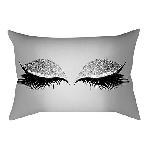 Sunshinehomely Clearance Eyelash Throw Pillow Covers Soft Velvet Cushion Cover 12x20