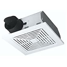 Broan-Nutone 670 Ventilation Fan, White Square Ceiling or Wall-Mount Exhaust Fan, 60 CFM, 5.5 Sones