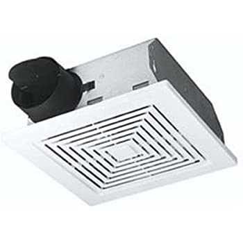 Broan Ventilation Fan, White Square Ceiling or Wall-Mount