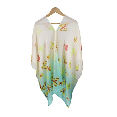 Fanssie Women`s Fashion Swimwear Beachwear Bikini Cover UPS Beach Dress Tops (Yellow Butterfly)