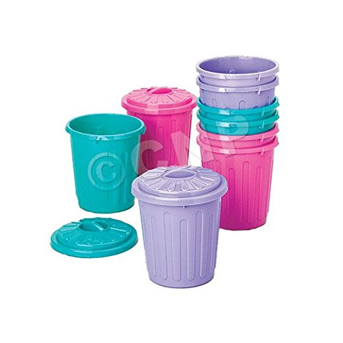 Garbage Can Party Favors - 12 Pack (Toy Trash Can compare prices)
