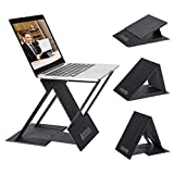 NTQ Portable Laptop Stand, Adjustable Laptop Tablet Stand Holder, Laptop Riser for Desk, Compatible with MacBook, Air, Pro, Lenovo and More 10-15.6 Inch Laptop & Tablets