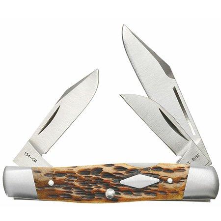 Jigged Bone Antique (CASE XX Jigged Antique Bone Cattle Knife 154CM Stainless Pocket Knives)