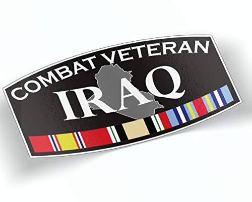 Combat Veteran Iraq Sticker 8