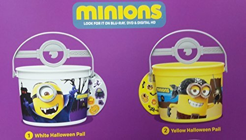 Mcdonalds 2015 Halloween Minions Pails Buckets - Set of 2 -