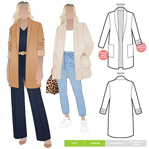 Style Arc Sewing Pattern - Loren Jacket (Sizes 18-30) - Click for Other Sizes Available