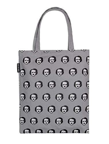 Out of Print Edgar Allan Poe-Ka Dot Tote Bag, 15 X 17 Inches Cotton Polka Dots Tote